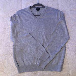 "Brooks Brothers ""346"" Medium Gray Men's Sweater"
